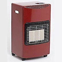 great condition red portable gas fire comes with one and half tanks of gas