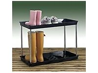 Black 2 Tier Boot/Welly Tray