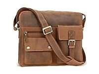 Messenger bag by Visconti in Hunter oiled leather