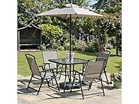 Garden Chairs,Glass Topped Table, Parasol SOLD Pop Up Gazebo still available
