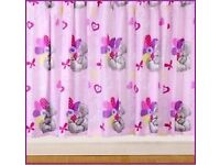 Tatty Teddy Single bedding set with matching curtains