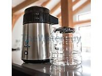 Megahome Stainless Steel Water Distiller Model MH943SBS With Glass Carafe&Polyprop Jug