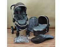 icandy peach, complete travel system and accessories (black jack)