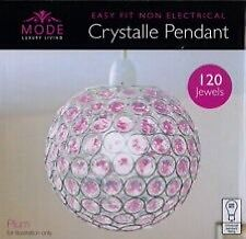 Purple pendant light
