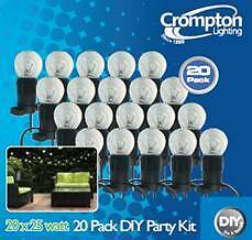 Festoon Party Lighting Kit with 20 warm white lamps - Free Post