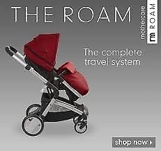 Mothercare Roam Travel System in Red with car seat