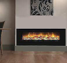 60  Insert Fireplace - Electric Heat - Realistic Flames -INSERT