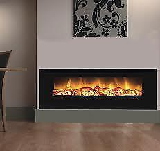 """60 """" Insert Fireplace - Electric Heat - Realistic Flames -INSERT"""