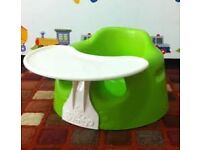 Green Bumbo Seat with Tray