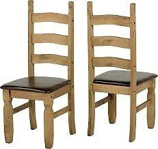 corona chairs brown pu