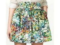 Zara flower skirt Size S 10£