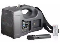 Portable wireless Mipro MA202 PA system
