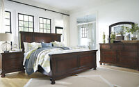 6Pc Porter Ashley furniture bedroom set millenium Top qualityNEW