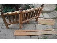Heavy duty single pine bed (s) Cape Country Furniture