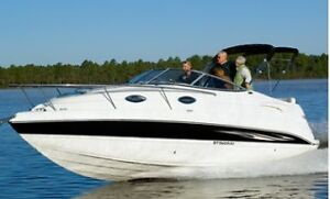 STINGRAY BOAT W/TRAILER FOR SALE-BATEAU STINGRAY A/REMORQUE