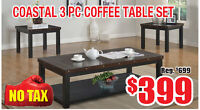 Variety of Coffee Table Sets Now On Clearance $399 Tax Included!
