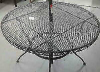 "New Beautiful Black Scroll patio Table 42"" very sturdy"