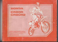 honda original owner/ maintenance manual 2000 cr80r and cr80r2