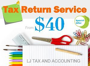 Tax Return Services Only $40 - From LJ TAX Mount Waverley Monash Area Preview