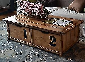 New Hidden Storage Coffee Table - Real Wood - Delivery Available