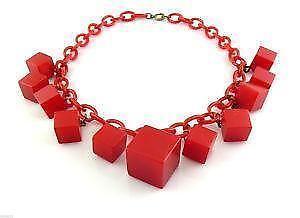 f56ff7ffda4a Red Bakelite Necklaces