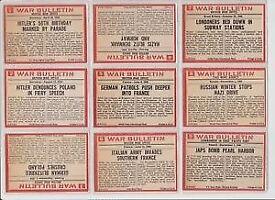 A&BC CIVIL WAR NEWS BUBBLEGUM CARDS, WAR BULLETIN 1965