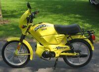 stolen yellow/black gas moped