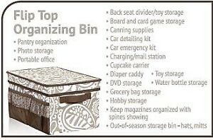 Thirty-One Flip-Top Organizing Bin for traveling