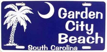 Garden City Beach South Carolina LICENSE PLATE SIGN