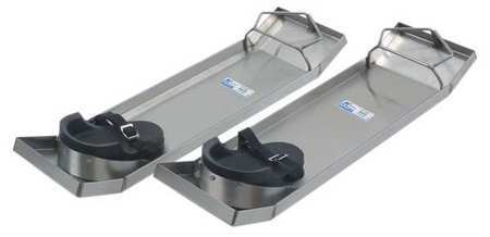 KRAFT TOOL CC162 Concrete Slider Knee Board,Stainless,Pr