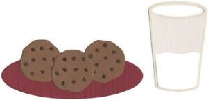 Quickutz two 4x4 Cookies & milk cutting die - $12