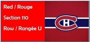 Billets - Golden Knights Las Vegas vs. Canadiens - ROUGE 110