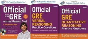 3 GRE EXAM BOOKS - LIKE NEW Condition