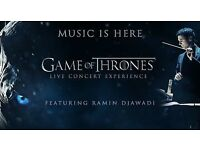 Game of Thrones Live Concert - 27th May 2018 - London Wembley Arena - VIP Packages