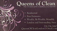 QUEENS OF CLEAN - RESIDENTIAL 2 LADIES = 1/2 THE TIME