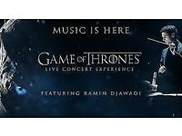 Game of Thrones - Live Concert - May 27th Sunday. Wembley - 2 x Section D2. £100 ONO