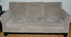 SOFA (3 SEATER)   Camel color.