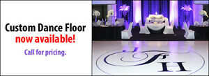 Call Babylon Decor to order your Custom Dance Floor
