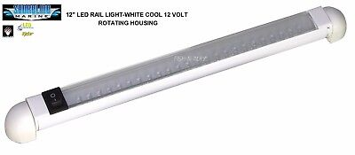 "SHORELINE MARINE COOL WHITE 12"" LED RAIL LIGHT - 12 VOLT SL91548 FOR BOAT RV'S"