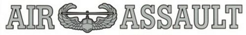 """Air Assault 15"""" inch Window Strip ARMY Outside Decal Sticker OFFICIAL"""