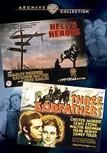 WAC DOUBLE FEATURES: HELLS HEROES/THREE GODFATHER Region Free DVD - Sealed