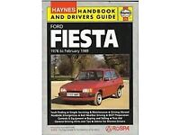 Haynes Handbook and Drivers Guide - Ford Fiesta 1976 to February 1989