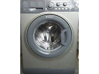 HOTPOINT AQUARIUS WASHING MACHINE - GRAPHITE/SILVER - 1600 SPIN - 8KG LOAD - WITH GUARANTEE