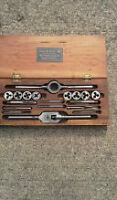 Antique tap and die set
