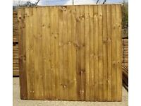 Heavy duty closeboard fence panel 6ft by 6ft