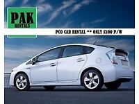 PCO Cars Rent or Hire TOYOTA PRIUS Uber/PCO Ready ONLY £100 pw