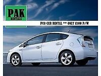 PCO Cars Rent or Hire TOYOTA PRIUS Uber/PCO Ready From Only £100 p/w
