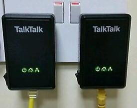 2 x D-Link Powerline Adapters DHP-300AV (TalkTalk)excellent condition