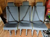 3 minibus seats with quick release unwin rail fittings