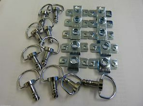 DZUS FAIRING & PANEL FASTENER D-RING-15MM STUD LENGTH 6 PACK